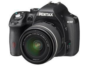 PENTAX K-50 black + DAL 18-55 mm WR lens - Digital camera