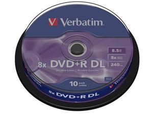 Verbatim DVD+R 8.5Gb D/L Spindle 10 recordable discs blank media