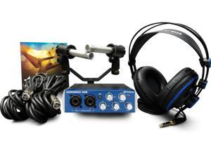 PreSonus AudioBox Stereo Kit w/ Headphones, Cables, Mics, Studio One Software