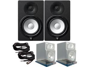 Yamaha HS7 Active Monitors Primacoustic Isopads TRS XLR-Male Cables