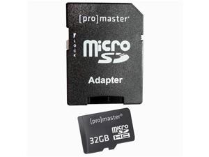 ProMaster 32GB MicroSD Card - Class 10 with Full Size SD Adapter
