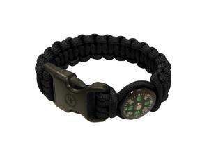 Ultimate Survival Technologies Para 550 Survival Compass Bracelet, Black
