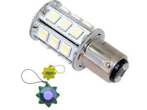 HQRP BA15D 5050 SMD White LED Bulb 12V 24V Boat Marine Light 1076 1142 68 90 plus HQRP UV Meter