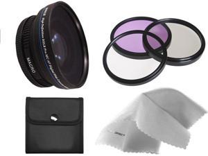 Sony Cyber-shot DSC-RX100 0.5X High Definition Super Wide Angle Lens w/ Macro (Includes Necessary Lens/Filter Adapters) + 52mm 3 Piece Filter Kit + Nw Direct Micro Fiber Cleaning Cloth