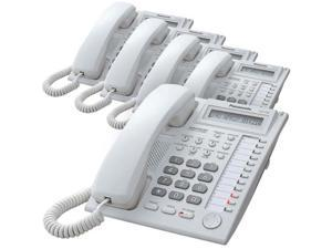 Panasonic KX-T7730WX Hybrid System Corded Telephone W/ LCD Display White ( 5 Pack )