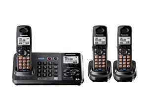 Panasonic KX-TG9383T 2-Line DECT 6.0 Cordless Phone w/ Extra Handset