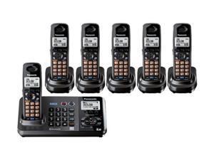 Panasonic KX-TG9382T + (4) KX-TGA939 2 Line 1.9GHz 6 Handset Expandable Cordless Phone