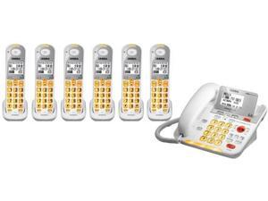 Uniden D3098-6 DECT 6.0 Amplified Corded/Cordless Phone w/ 5 Extra Handsets