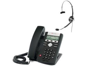 Polycom SoundPoint IP 335 (2200-12375-025) w/ Corded Headset SoundPoint IP 335 2-Line IP Phone (POE)