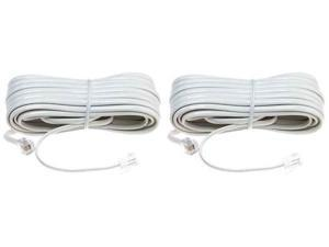 25 Foot White Line Cord (2-Pack) 25 Foot Silver Line Cord