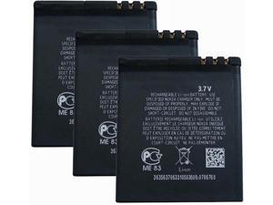 Replacement Battery for Nokia BL-5F (3 Pack)