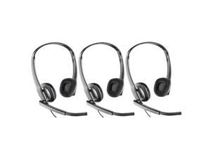 Plantronics Blackwire C220-M (3-Pack) Over the Head Headset Optimized for Microsoft Office Communicator 2007