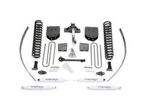 """Fabtech K2122 8"""" Basic System w/ Performance Shocks - 2008-13 Ford F250 4WD w/ Factory Overload"""