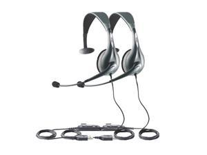 Jabra Voice 150 Mono USB Headset W/ Flexible Boom & Adjustable Headband (2-Pack)