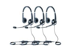 Jabra Voice 550 Duo USB Headset W/ Noise Reduction System (3-Pack)