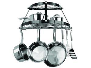 Range Kleen RKNCW6002RB Range Kleen 2 Shelf Wall Mount Black Pot Rack