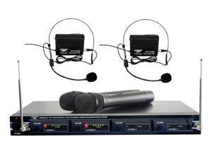Pyle Audio T51500B Pyle-Pro PDWM4300 4 Mic VHF Wireless Rack Mount Microphone System