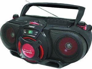 Naxa NAXNPB259B Portable CD/MP3 & Cassette Player & AM/FM Radio with Subwoofer