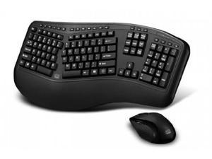 Adesso WKB1500GBB Adesso Tru-Form 1500 Wireless Ergonomic Keyboard and Laser Mouse for Win 8/7/Vista/XP/2000
