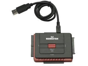 Manhattan Products ICI179195B Manhattan Hi-Speed USB to SATA/IDE Adapter 3-in-1 with One-Touch Backup (179195)