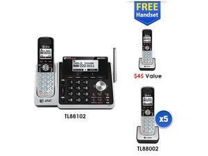 TL88102 + (6) TL88002 7 Handset Cordless Phone (2 Line)