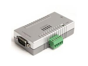StarTech ICUSB2324852W StarTech.com 2 Port USB to RS232 RS422 RS485 Serial Adapter with COM Retention ICUSB2324852 (Grey)