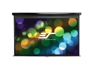 "Elite Screens M80UWH Elite Screens M80UWH Manual Ceiling/Wall Mount Manual Pull Down Projection Screen (80"" 16:9 Aspect Ratio) (MaxWhite) - 39"" x 70"" - MaxWhite"