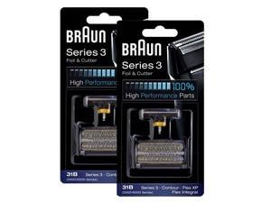 Braun 6000FC/31B 2-Pack Replacement Foil and CutterPack 6000FC/ 31B