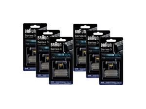 Braun 6000FC/31B 6-Pack Replacement Foil and CutterPack 6000FC/ 31B