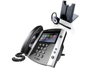 Polycom 2200-44600-001 VVX 600 Business Media Phone with AC Power Supply
