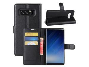 Galaxy Note 8 Case, Fettion Premium PU Leather Wallet Flip Phone Protective Case Cover with Card Slots and Magnetic Closure for Samsung Galaxy Note 8 ...