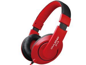 3.5mm Headphone Earphone Gaming Headset with Microphone-red