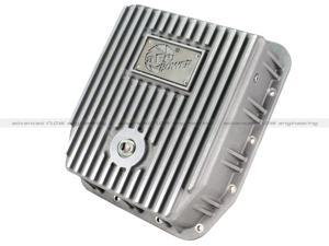 aFe Power COV Trans Pan Ford Trucks 94-08 AODE/4R70W Raw Mach'd Fins Diff Covers 46-70220