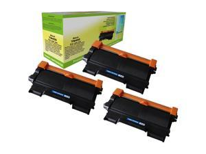 Compatible 3-PACK Brother TN-450 Black Toner Cartridges