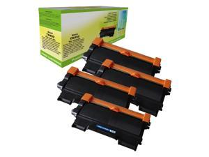 Compatible 4-PACK Brother TN-450 Black Toner Cartridges