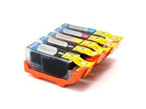 5-PACK Compatible Canon PGI-225/CLI-226 Ink Cartridges w/Chip SET: 2 Black, Cyan, Magenta, Yellow