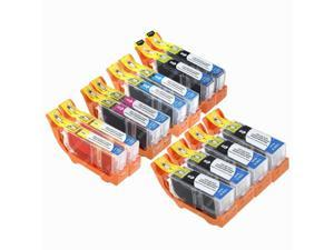 12-PACK Compatible Canon PGI-220 Bk & CLI-221 Bk/C/Y/M Ink Cartridges for PIXMA iP3600, iP4600, iP4700, MP560, MX860, MP620, MP630, MP640, MP980, MP990, MX860, MX870 Printer