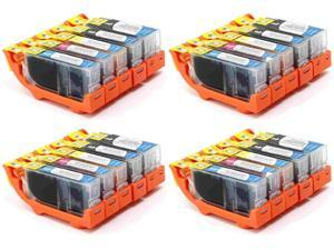 20-PACK (4-Sets) Compatible Canon PGI-220 Bk & CLI-221 Bk/C/Y/M Ink Cartridges for PIXMA iP3600, iP4600, iP4700, MP560, MX860, MP620, MP630, MP640, MP980, MP990, MX860, MX870 Printer