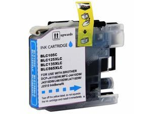 Compatible Brother LC105 (LC105C) XXL Super High Yield Cyan Ink Cartridge for MFC-J4310DW, MFC-J4410DW, MFC-J4510DW, MFC-J4610DW, MFC-J4710DW, MFC-J6520DW, MFC-J6720DW, MFC-J6920DW Inkjet Printer