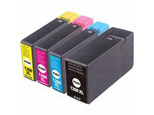 4-PACK High-Yield PGI-1200 XL Ink Cartridge Set (Bk, C, M, Y) for Canon MAXIFY MB2020 MB2320 Printer