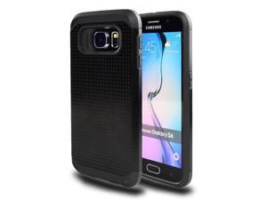 for Samsung Galaxy S6 (SM-G920) - EXCLUSIVE Hybrid Case 2-Layer Protective Hard Shell Cover - Black