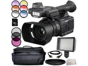 Panasonic AG-AC30 9PC Accessory Bundle - Includes 3 Piece Filter Kit (UV + CPL + FLD) + 6PC Graduated Filter Kit + 64 GB SD Memory Card + ND Filter + Carrying Case + MORE
