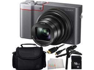 Panasonic Lumix DMC-ZS100 Digital Camera (Silver) 16GB Bundle 5PC Accessory Kit Includes 16GB Memory Card + Pistol Grip/Table Top Tripod + Micro HDMI Cable + Carrying Case + Microfiber Cleaning Cloth