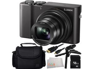 Panasonic Lumix DMC-ZS100 Digital Camera (Black) 16GB Bundle 5PC Accessory Kit Includes 16GB Memory Card + Pistol Grip/Table Top Tripod + Micro HDMI Cable + Carrying Case + Microfiber Cleaning Cloth