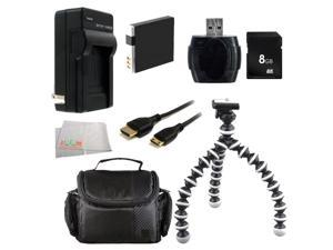 Deluxe Essential Accessory Kit For Canon PowerShot S120, SX170 IS, SX260 HS, SX280 HS, SX500 IS, SX510 HS, SX600 HS, SX700 HS, ELPH 500 HS, D10, D20, D30. Includes 8GB SD Card + More