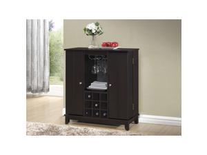 Baxton Studio Derremer Contemporary Dark Brown Bar Cabinet