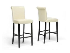 Baxton Studio Bianca Cream Modern Bar Stool (Set of 2)