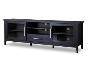 Baxton Studio Espresso TV Stand—One Drawer