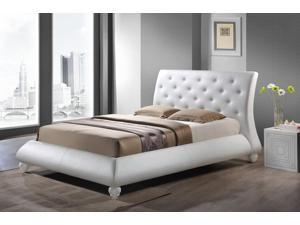 Baxton Studio Metropolitan Wood and Leather Contemporary King-Size Bed
