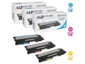 LD © Compatible Samsung CLT Set of 3 Laser Toner Cartridges: 1 CLT-C409S Cyan, 1 CLT-M409S Magenta, and 1 CLT-Y409S Yellow